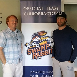 Chiropractor Mauldin SC Jared Sargent with Bretton Cameron
